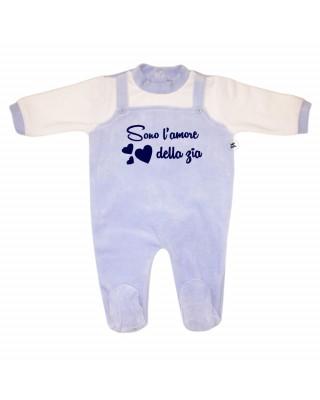"""Tutina neonato in ciniglia """"Sono l'amore della zia"""""""
