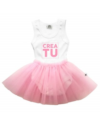 Bodysuit con gonna in tulle da personalizzare