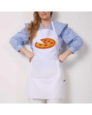 Grembiule pizza da abbinare al grembiule da bambino con stampa pezzo di pizza