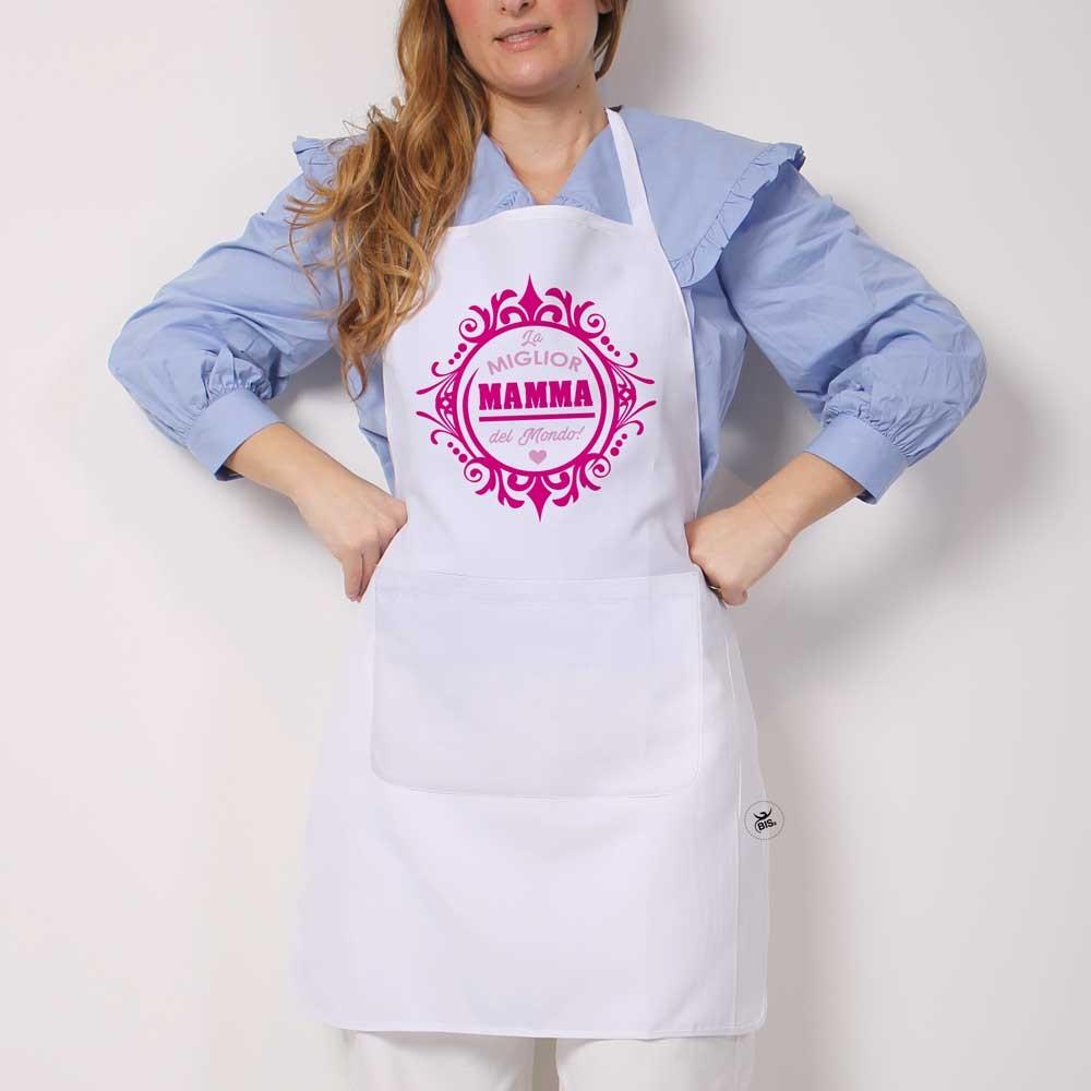 Grembiule da cucina la miglior mamma del mondo