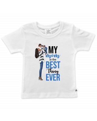 """T-shirt bimbo """"My Mom is the best"""""""