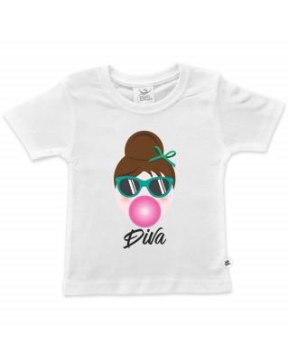 t-shirt bimba audrey mini diva con big-bouble