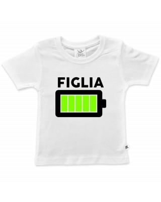 "T-shirt bimbo/a ""Batteria carica"" figlio/a"