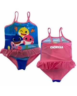 "Costume intero ""Baby shark"" rosa scuro"