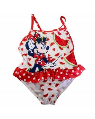 "Costume intero bimba ""Minnie fruit""  bianco"