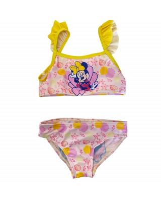 "Bikini bimba disney ""Minnie"" bordino giallo"