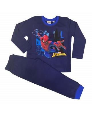 """Pigiama estivo bimbo """"Spiderman"""" colletto blu"""