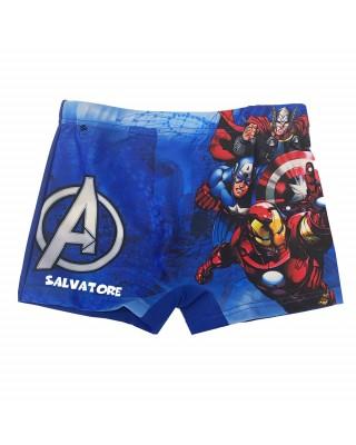 """Boxer da mare """"The Avengers"""" blu"""