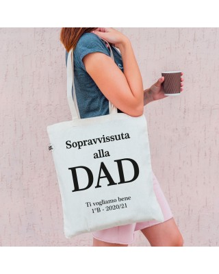 """Shopper bag """"Sopravvissuta alla DAD"""""""