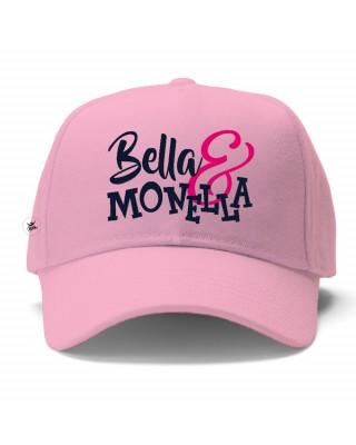 """Cappellino con visiera bimba """"Bella&Monella"""" rosa"""