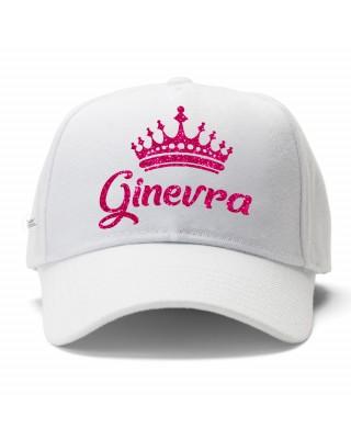 """Cappellino con visiera """"corona e nome"""""""