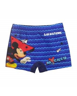 """Boxer da mare """"Mickey mouse""""  blu"""