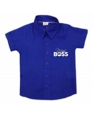 """Camicia bimbo """"Mini Boss"""" blu"""