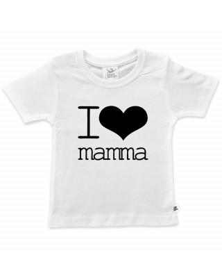 "T-shirt bimba mezza manica ""I love mamma"""