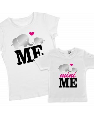 "2 T-shirt coordinate MAMMA - FIGLIA  ""Me""- ""Mini me"""