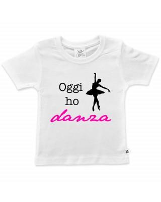 "T-shirt bimba mezza manica ""Oggi ho danza"""