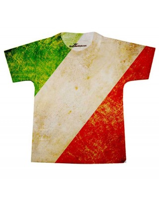 T-shirt bimbo/a con BANDIERA vintage