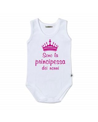 """Body neonato """"Sono la principessa dei nonni"""""""