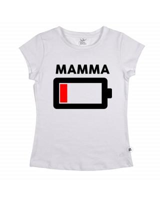"""T-shirt Donna """"Batteria scarica"""" MAMMA"""