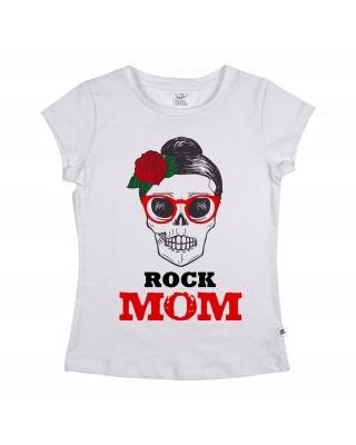 "T-shirt Donna  ""ROCK MOM"""