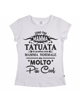 """T-shirt donna manica corta """"Mamma Tatuata"""""""