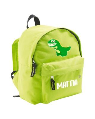 """Zaino trandy """"Dinosauro""""  verde"""