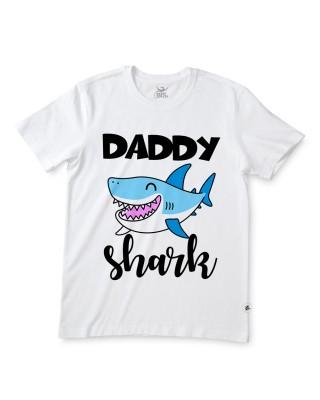 "T-shirt uomo mezza manica ""Daddy shark"""
