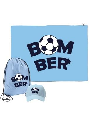 """Kit telo mare, cappellino e sacca """"Bomber"""""""