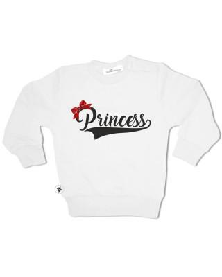Felpa Bimba natalizia Princess e particolare fiocco glitter