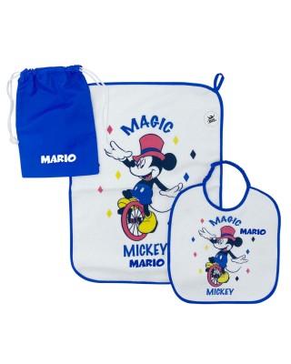 "Kit Asilo plastificato ""Magic Mickey"" blu"