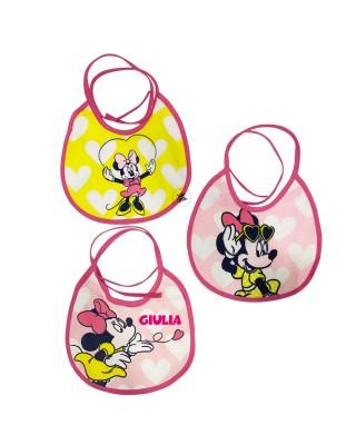 """Tris di bavaglini """"Disney""""  Minnie"""
