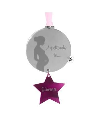 Albero di natale gravidanza, addobbo aspettando te personalizzabile