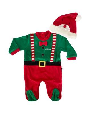 Vestito babbo natale per neonati personalizzabile con nome