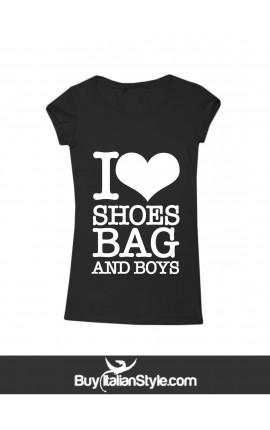 """Women t-shirt """"I love shoes"""""""