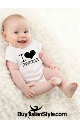 "Bodino neonato 0/36 mesi ""I love mamma"""