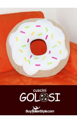 Frosted donut cushion