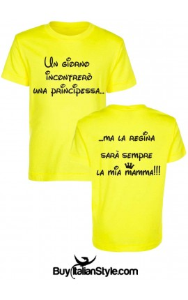 "T-shirt bimbo 6mesi/14anni ""La principessa e la regina"""