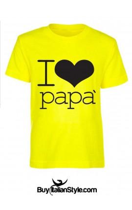 T-shirt bimbo/a I Love papà