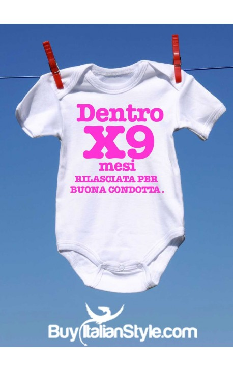 """Bodino neonata """"Dentro per nove mesi"""""""