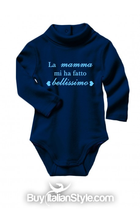 """Baby Neck Bodysuit """"Mom made me Awesome!"""""""