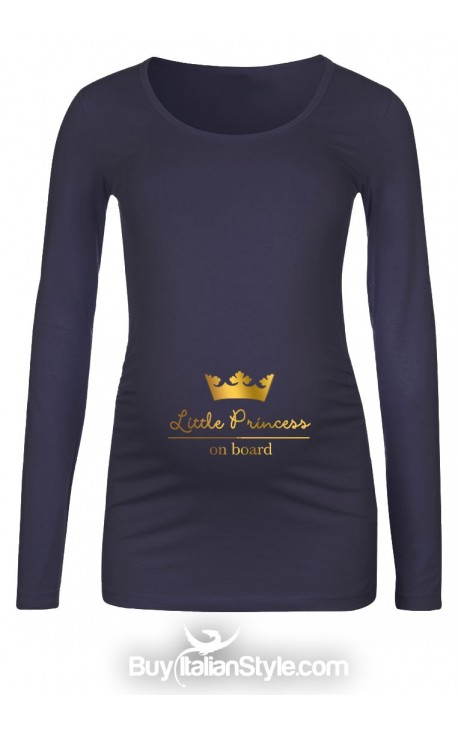 "T-shirt premaman ""Little prince/princess on board"""