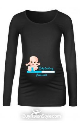 "T-shirt premaman ""Baby loading"""