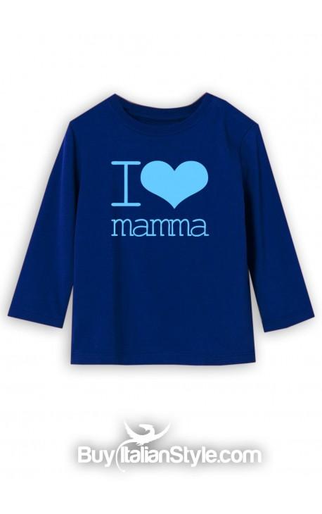 "T-shirt manica lunga ""I love mamma"""