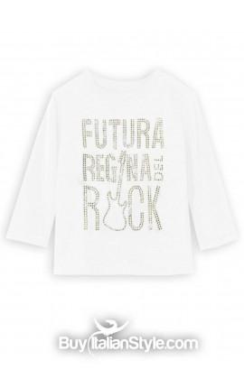 """T-shirt manica lunga """"Futura regina del rock"""""""