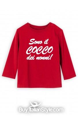 """T-shirt manica lunga """"Sono il/la cocco/a dei nonni"""""""