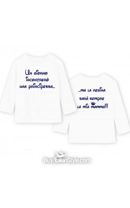 "T-shirt manica lunga per bimbo ""PRINCIPESSA/REGINA"""
