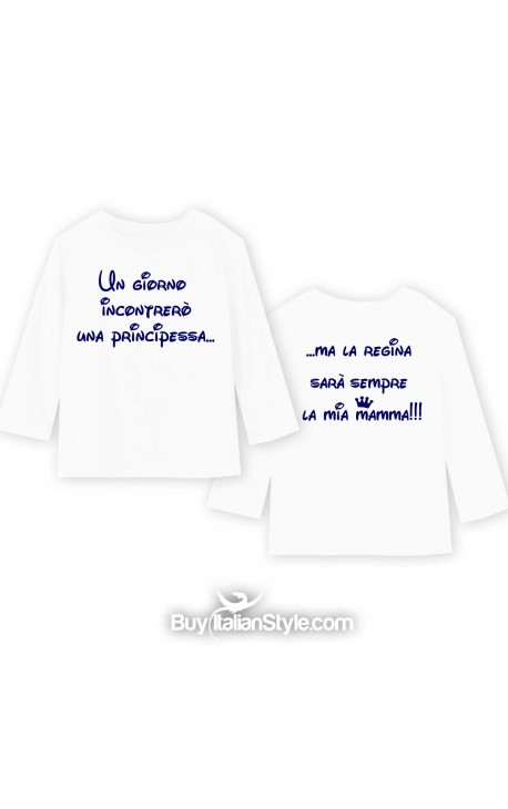 "T-shirt manica lunga ""Scusate per il look, ma mia mamma è super fashion"""