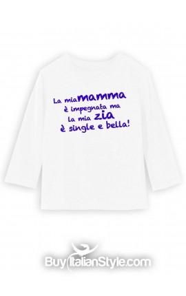 t-shirt bimbo e bimba con stampa dedica zia