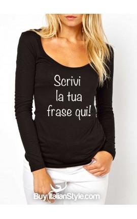 T-shirt maniche lunghe personalizzabile on-line