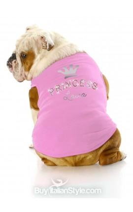 """T-shirt cagnolina """"Princess"""" PERSONALIZZABILE CON NOME"""